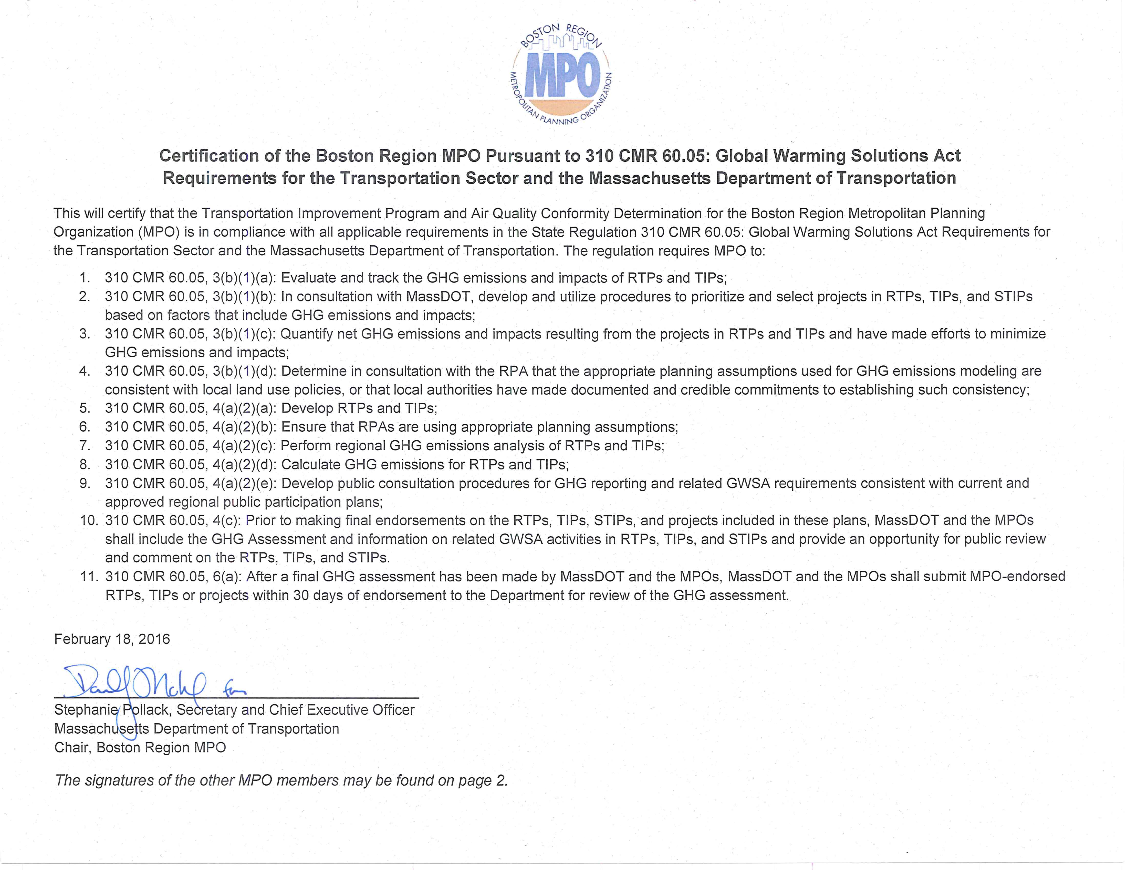 Draft Transportation Improvement Program And Air Quality Conformity