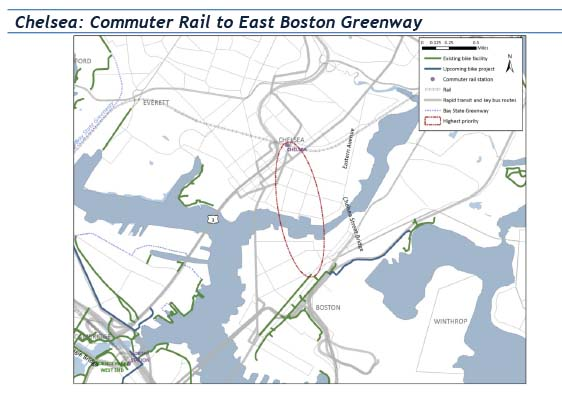 Bicycle network evaluation section 53 chelsea commuter rail to east boston greenway this figure is a sciox Choice Image