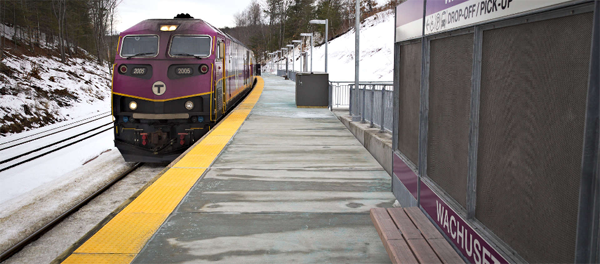 Image of an MBTA Commuter Rail train.
