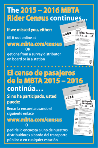 Outreach materials in spanish and english for the online and printed survey.